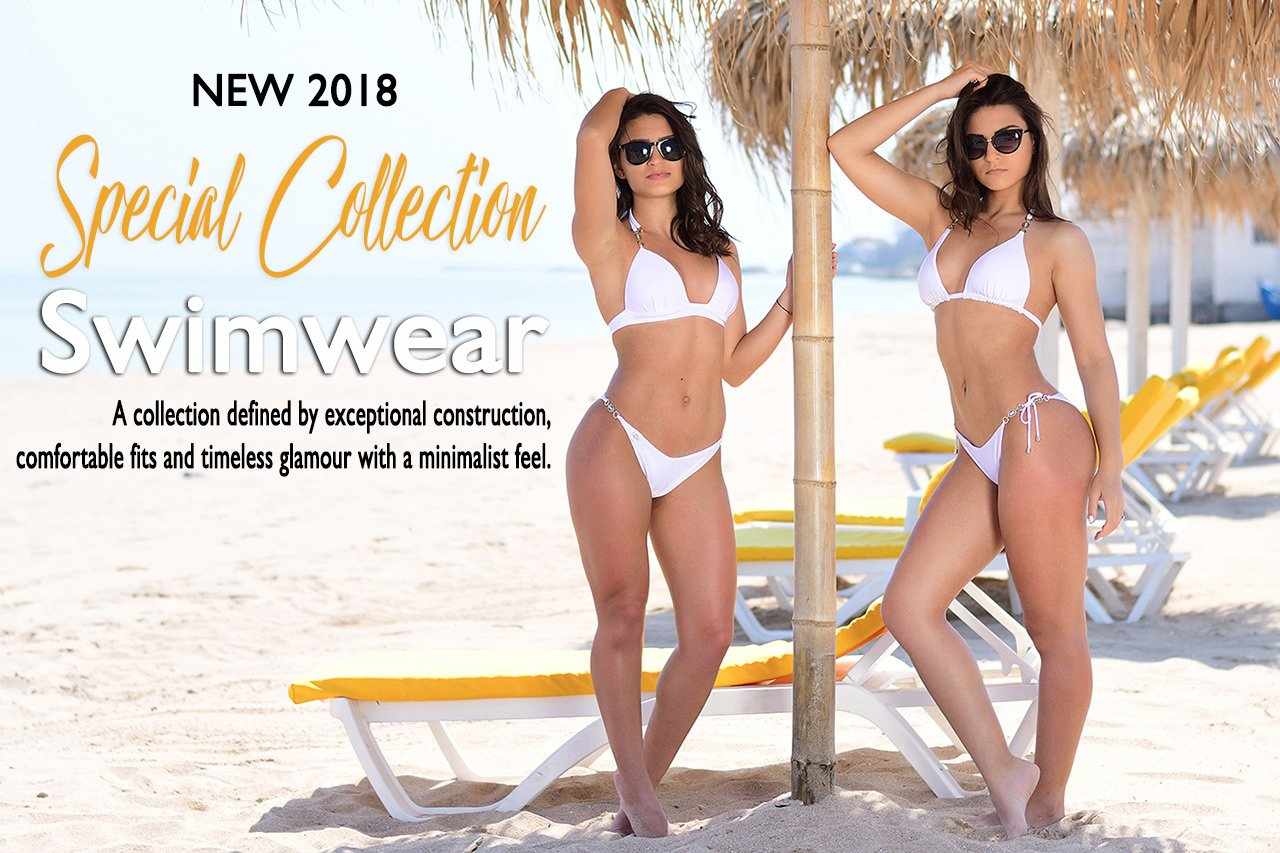 New Special Collection 2018 Swimwear Gabbi White